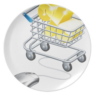Percentage sign trolley dinner plates