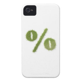 Percentage symbol made of grass Case-Mate iPhone 4 case