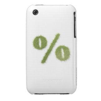 Percentage symbol made of grass iPhone 3 Case-Mate case