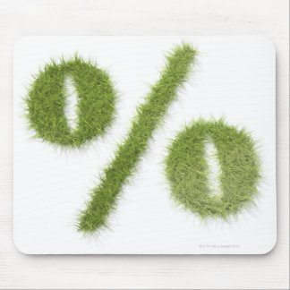 Percentage symbol made of grass mouse pad
