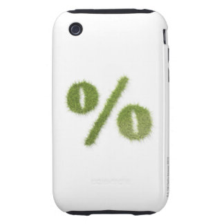 Percentage symbol made of grass tough iPhone 3 cover