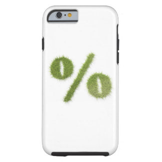 Percentage symbol made of grass tough iPhone 6 case