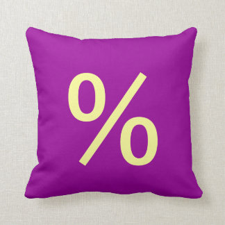 Percentage Symbol throw pillow
