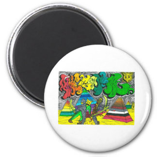 Percentum Chopping Zombies 2 Inch Round Magnet