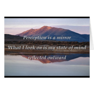 Perception is a mirror card
