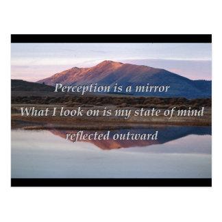 Perception is a mirror. postcard