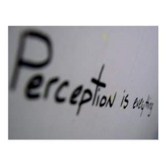 perception is everything postcard