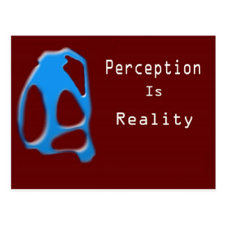 Perception Is Reality Monkey Postcard