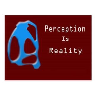 Perception Is Reality Monkey Postcard