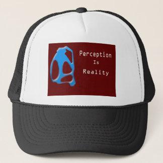 Perception Is Reality Monkey Trucker Hat