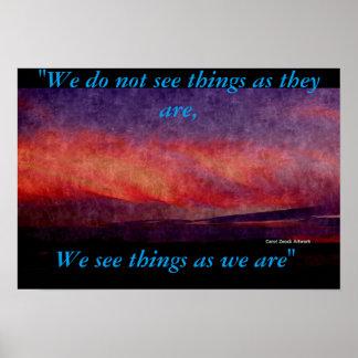 Perception Poster by Carol Zeock