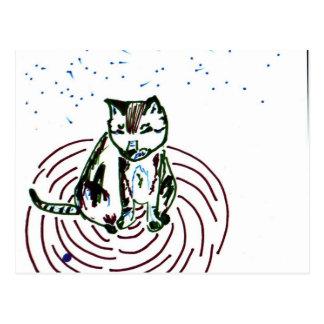Perceptive Cat Postcard