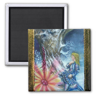 PERCEVAL AND VISION OF THE HOLY GRAIL 2 INCH SQUARE MAGNET