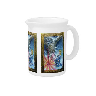 PERCEVAL AND VISION OF THE HOLY GRAIL BEVERAGE PITCHERS