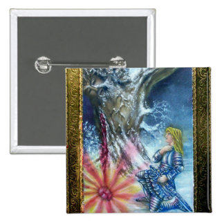 PERCEVAL AND VISION OF THE HOLY GRAIL PIN