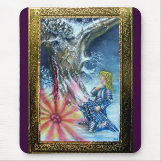 PERCEVAL AND VISION OF THE HOLY GRAIL MOUSE PAD
