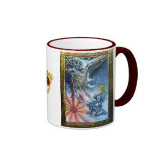PERCEVAL AND VISION OF THE HOLY GRAIL RINGER COFFEE MUG