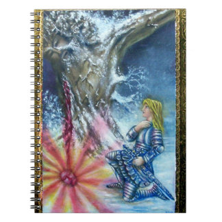 PERCEVAL AND VISION OF THE HOLY GRAIL SPIRAL NOTEBOOK