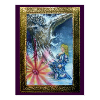 PERCEVAL AND VISION OF THE HOLY GRAIL POSTCARD