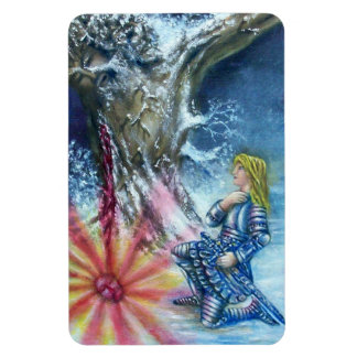 PERCEVAL AND VISION OF THE HOLY GRAIL RECTANGULAR PHOTO MAGNET