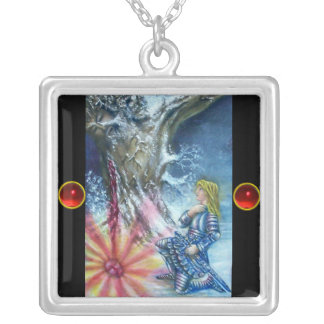 PERCEVAL AND VISION OF THE HOLY GRAIL SILVER PLATED NECKLACE