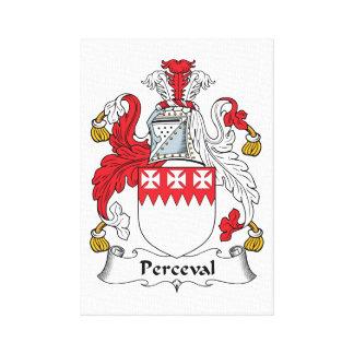 Perceval Family Crest Canvas Print