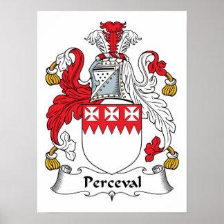 Perceval Family Crest Poster