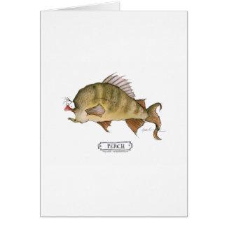 Perch fish, tony fernandes greeting card