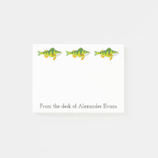Perch Fishing Post-it Notes