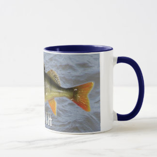 Perch Freshwater Fish, With Water Background Image Mug