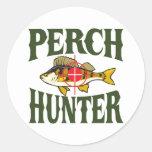 Perch Hunter Round Sticker