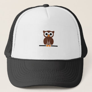 Perched Brown Owl Trucker Hat