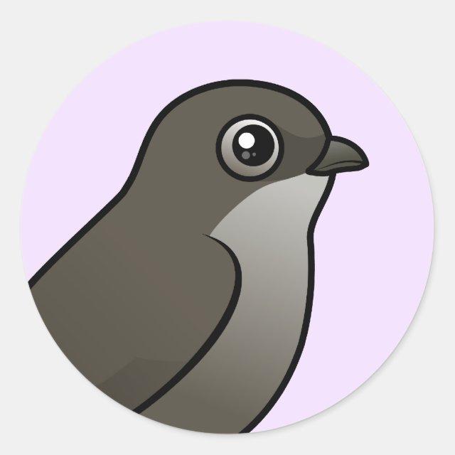 Perched Chimney Swift Round Sticker In Birdorable Shop