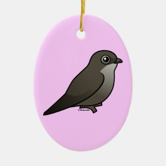 Perched Chimney Swift Christmas Ornament