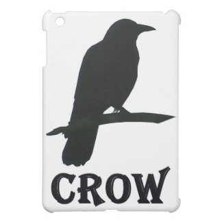 Perched Crow Silhouette on iPad Case
