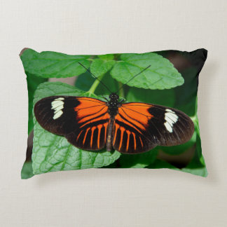 Perched Doris Longwing Butterfly Accent Pillow