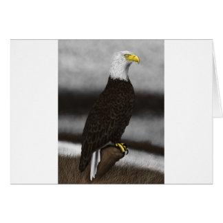 Perched Eagle Card