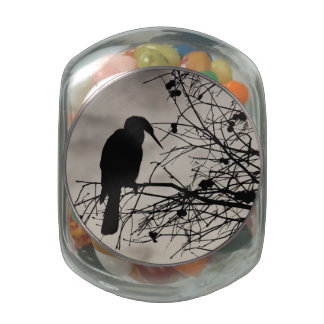 Perched Glass Candy Jar