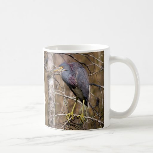 Perched Heron Coffee Mug
