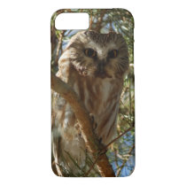Perched Northern Saw-Whet Owl iPhone 7 Case