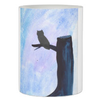 Perched Owl Flameless Candle