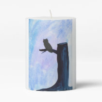 Perched Owl Pillar Candle