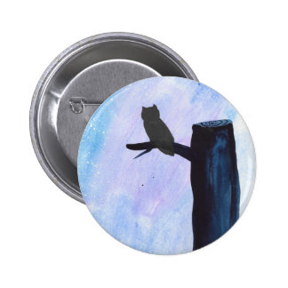 Perched Owl Pinback Button