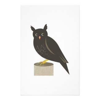 Perched Owl Stationery Design