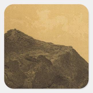 Perched rock, Rocker Creek, Arizona Square Sticker