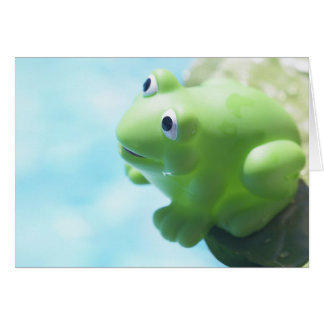 Perched Rubber Frog Card