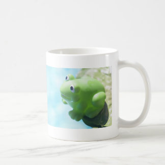 Perched Rubber Frog Coffee Mug