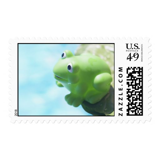 Perched Rubber Frog Postage