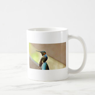 Perched Ruby and Green  little Hummingbird Coffee Mug