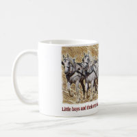 Percheron Draft Horse Farm Wagon Buckboard mug